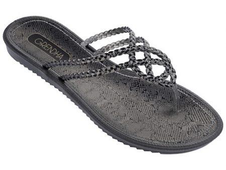 Grendha Black Riviera Thong Flip Flops