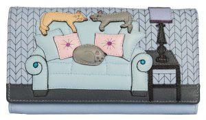 Lazy Days Cats Leather Purse