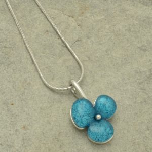 Aqua Clover Necklace