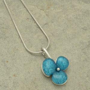 Aqua Clover Necklace