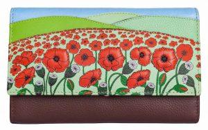Poppyfields Flapover Leather Purse