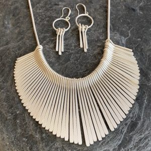 Fan Necklace & Earring Set