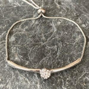 Crystal Friendship Bracelet - Silver