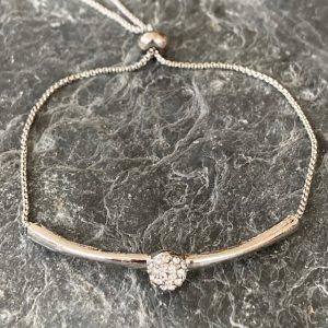 Crystal Friendship Bracelet - Silver
