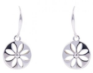 Floral Drop Earrings Earrings - Silver