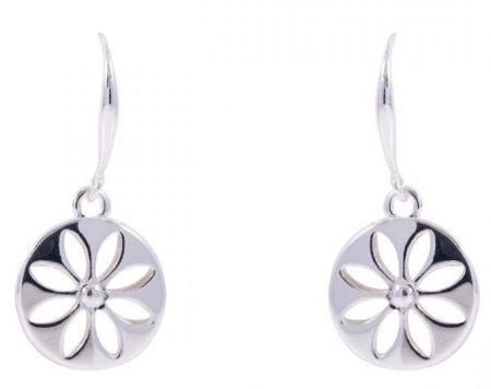 Floral Drop Earrings Earrings - Silver