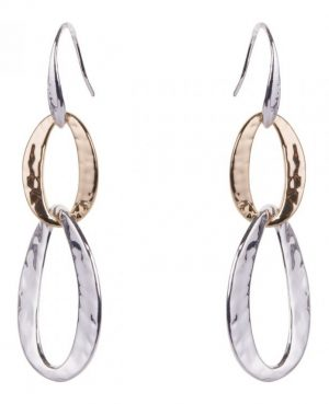 Hammered Circles Drop Earrings