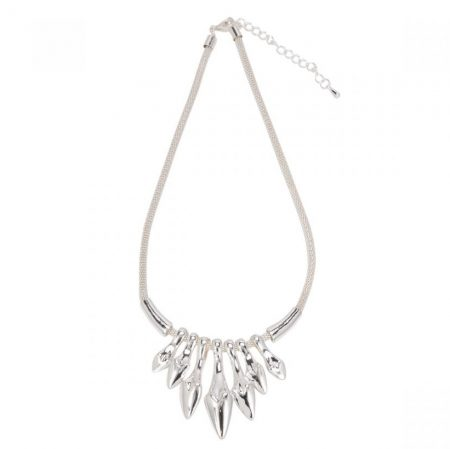 Pointed Heart Necklace - Silver