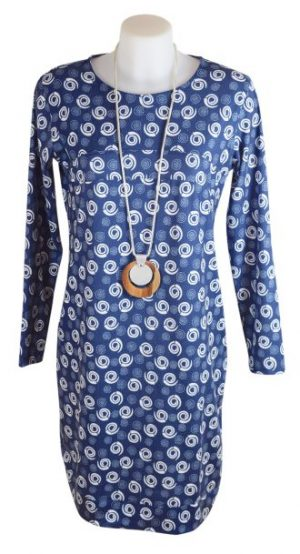 Alice Collins Flora Tunic Dress - Swirl Dot