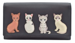 Best Friends Sitting Cats Leather Purse
