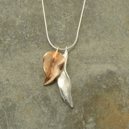 Duo Leaf Necklace