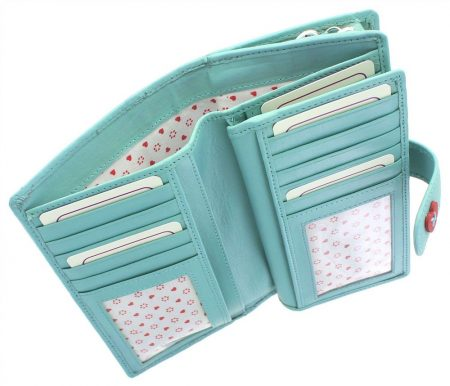 Lucy Leather Purse - Light Green