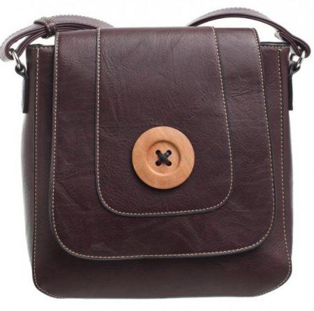 Bessie London Button Across Body Bag - Purple