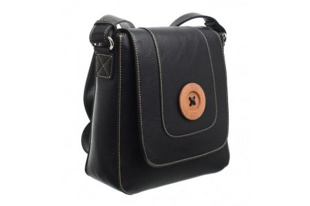 Bessie London Button Across Body Bag - Black