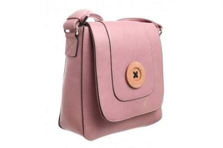 Bessie London Button Across Body Bag - Pink