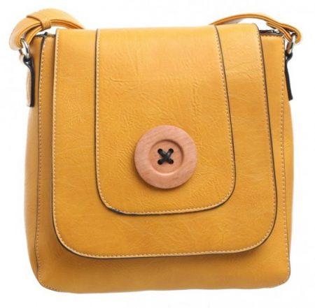Bessie London Button Across Body Bag - Yellow