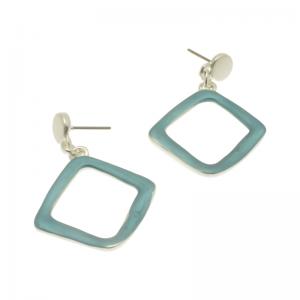 Teal Diamond Earrings