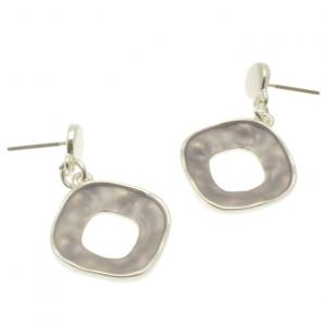 Grey Geo Earrings