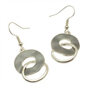 Grey Swirl Earrings