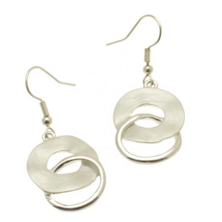 White Swirl Earrings