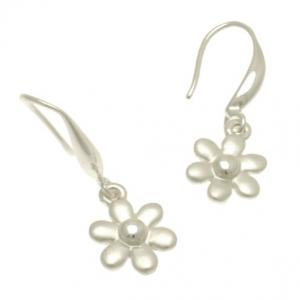 Silver Dahlia Earrings