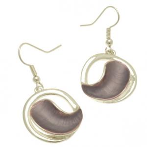 Purple Moon Earrings