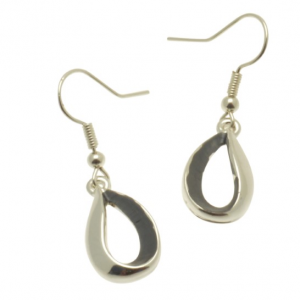Grey Droplet Earrings