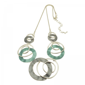 Teal Swirl Necklace