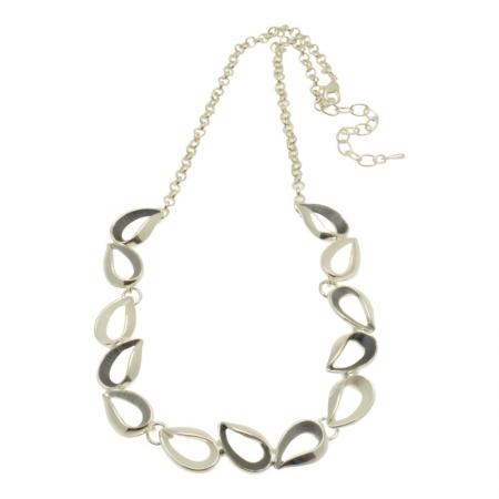 Grey Droplet Necklace