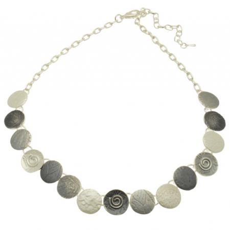 Grey Coin Necklace