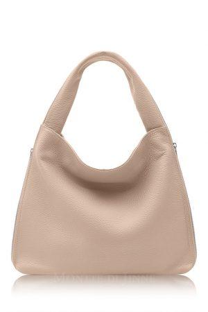Leather Shoulder Bag Smoke Rose