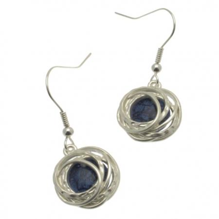 Blue & Silver Earrings