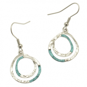 Teal & Silver Earrings