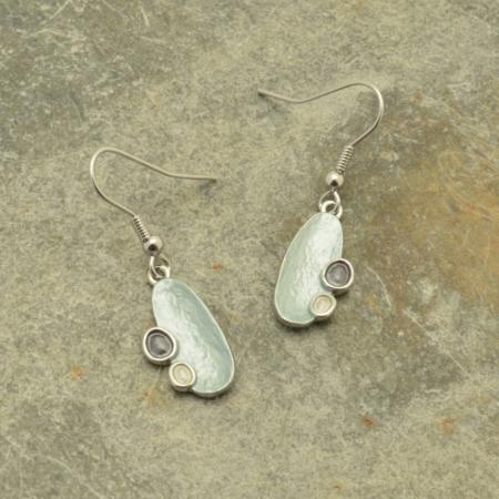 Aqua Lozenge Earrings