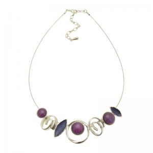 Purple & Blue Multishape Necklace