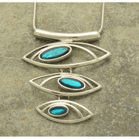 Aqua Shell Layer Necklace
