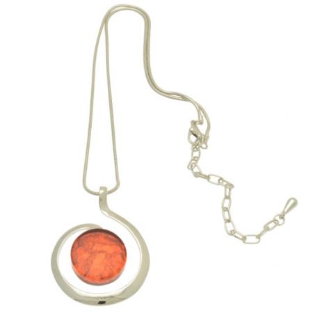 Orange Curl Necklace
