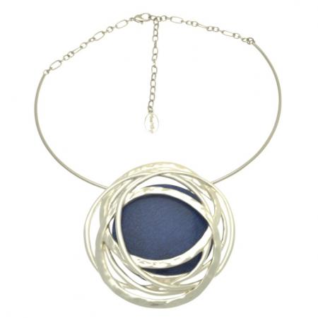 Blue & Silver Statement Necklace