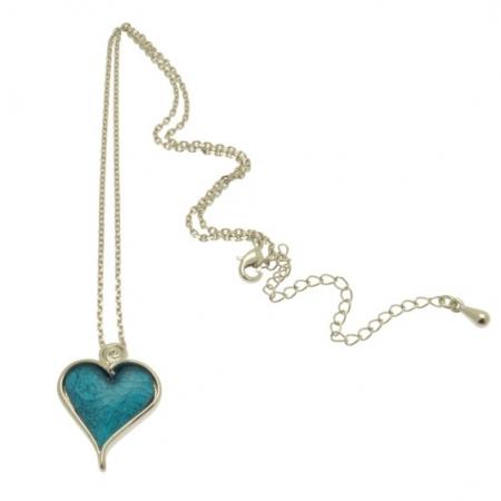 Aqua Heart Necklace