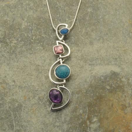 Multicolour Quadro Necklace