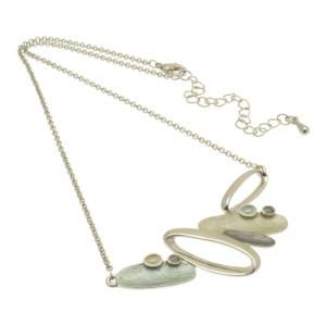 Aqua Lozenge Necklace