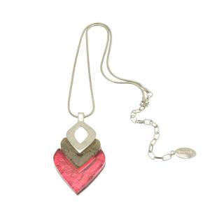 Dark Pink and Mink Necklace
