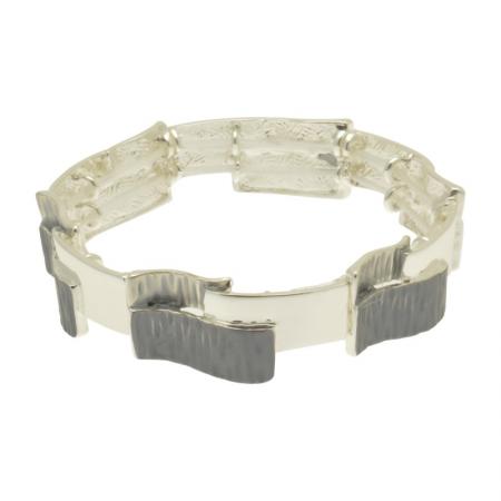 Grey & Silver Overlay Bracelet