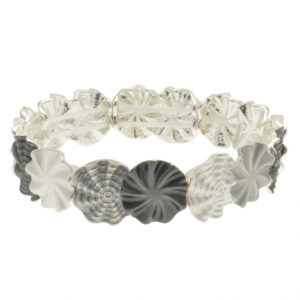 Grey Flower Bracelet