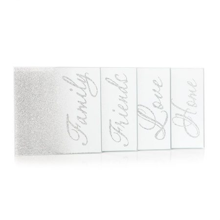 Silver Coasters - Family, Friends, Love, Home