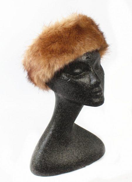 Faux Fur Head Warmer - Camel