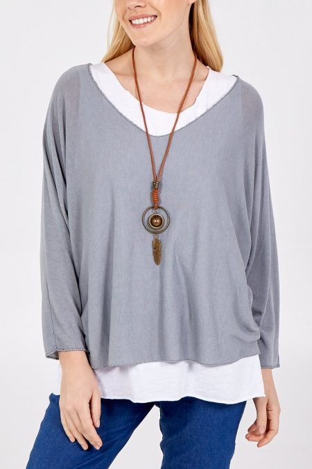 Necklace Top - Grey
