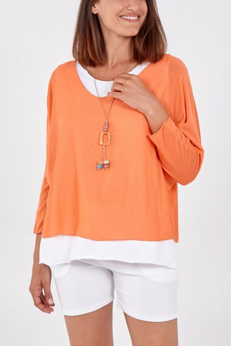 Necklace Top - Orange