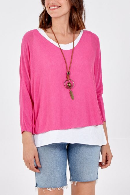 Necklace Top - Hot Pink