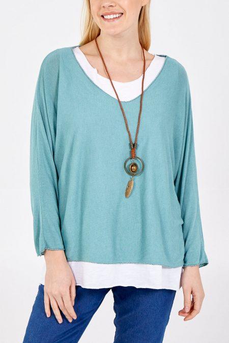Necklace Top - Sage